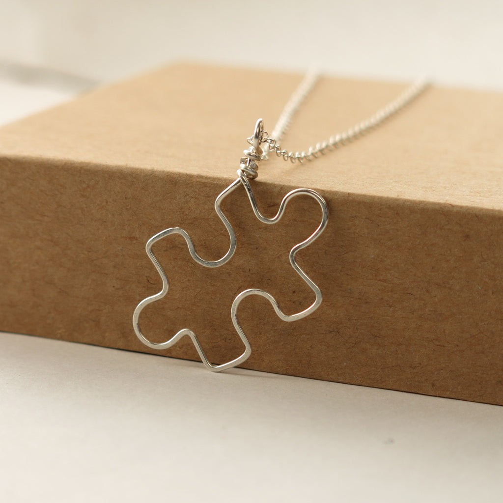 Puzzle Piece Autism Awareness Necklace