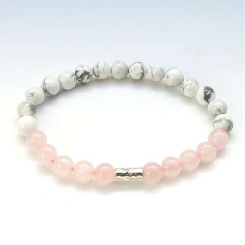 Rose Quartz & Howlite Mini Bracelet
