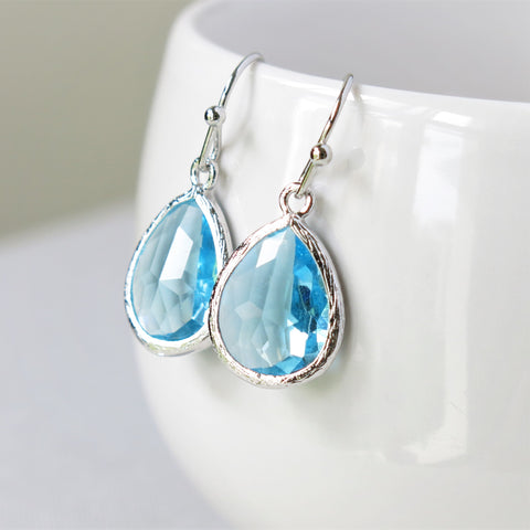 Aquamarine Silver Drop Earrings #2