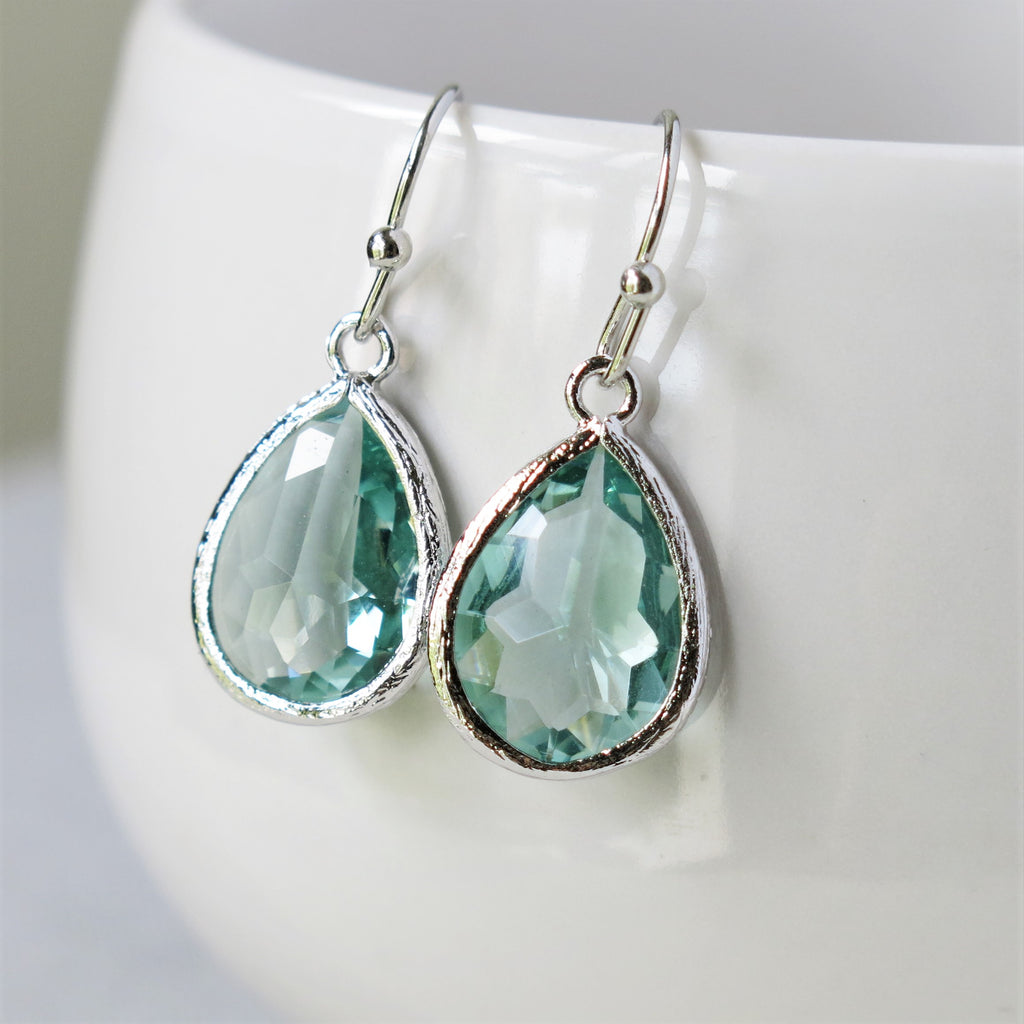 Silver Prasiolite Drop Earrings #2