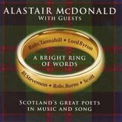 cover image for Alastair McDonald - A Bright Ring Of Words