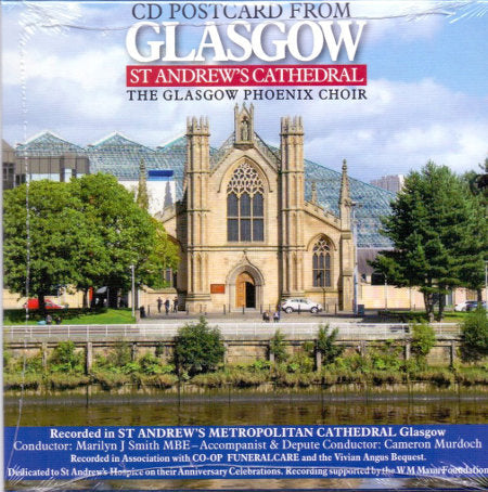 cover image for The Glasgow Phoenix Choir - CD Postcard From Glasgow St Andrew's Cathedral