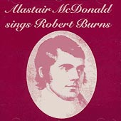 cover image for Alastair McDonald - Sings Robert Burns