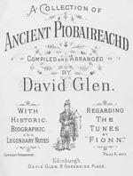cover image for David Glen's Ancient Collection Of Piobaireachd - Book 4