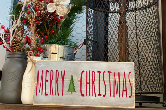 'Merry Christmas' Tree Sign