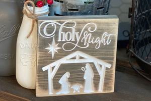 'O Holy Night' Nativity Sign