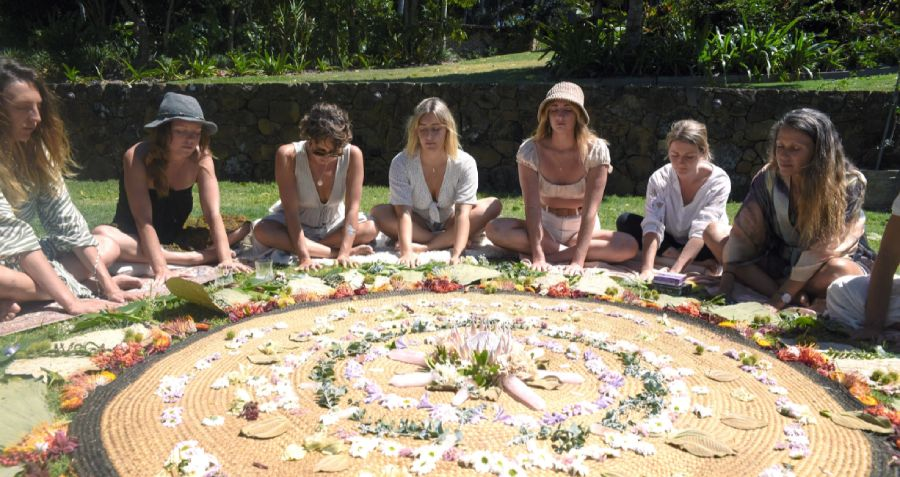 A women's circle hosted by Sisters And The Sea in Byron Bay