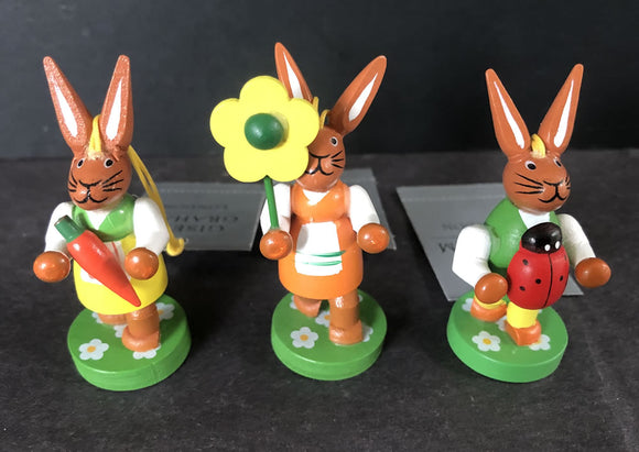 Set of 3 Easter rabbit decorations