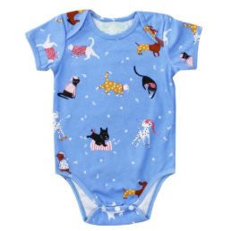 Cat and Dog print cotton baby grow