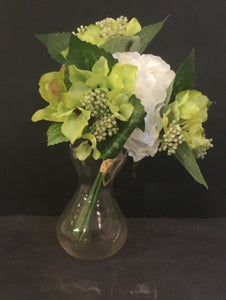 peony bouquet pale green