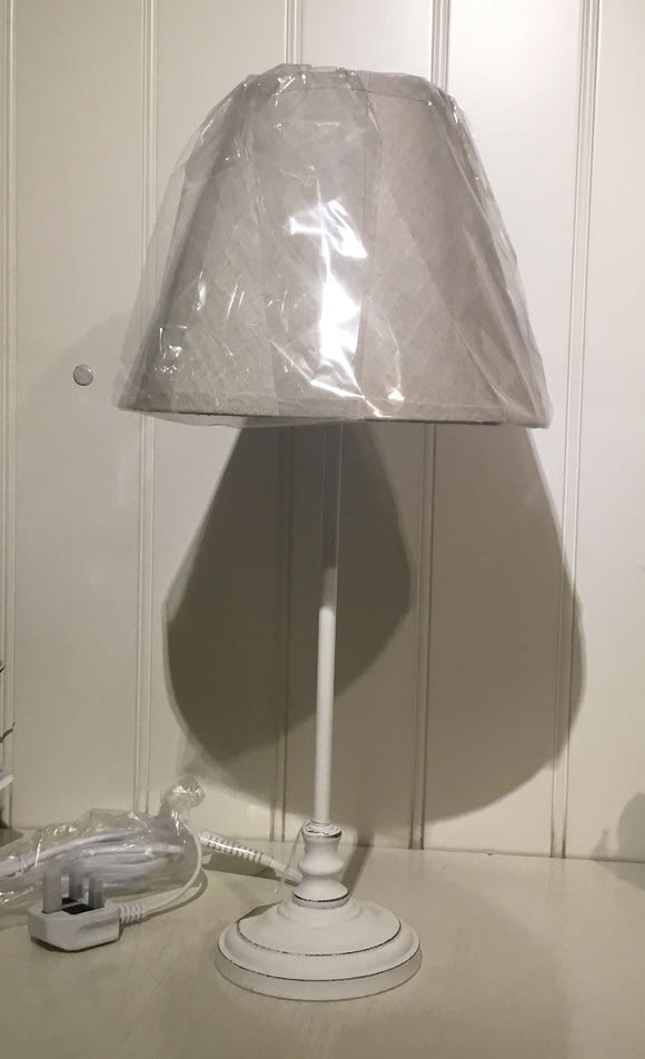 White table lamp and shade
