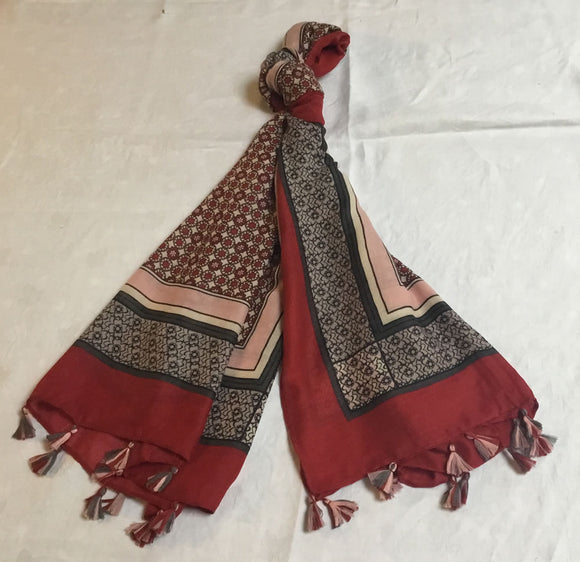 Large Printed Scarf