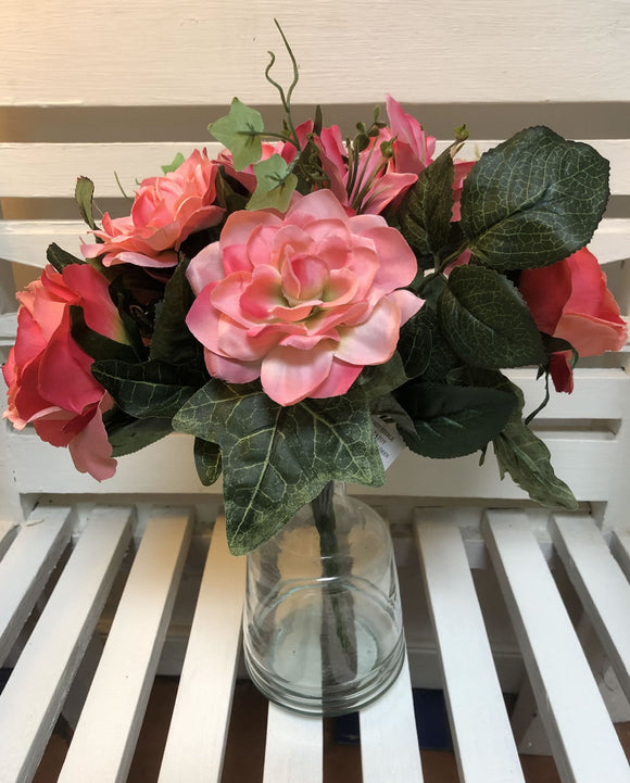Rose and Lily bouquet with Ivy