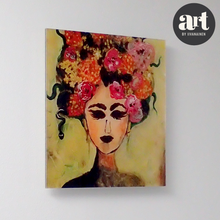 Load image into Gallery viewer, Flowers in Hair, Acrylic Glass Print