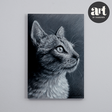 Load image into Gallery viewer, Big Wood Block, Gaze of a Cat