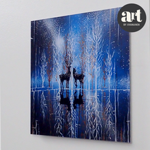 Load image into Gallery viewer, Deers of the Forest, Acrylic Glass Print