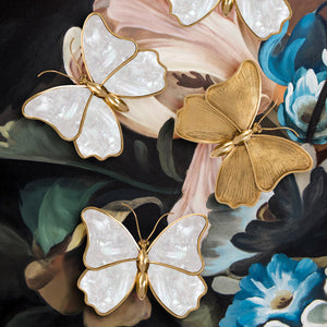 Mariposa - Brass and Shell Butterfly