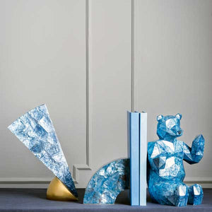 Facet Brasilia Bookends - Azure