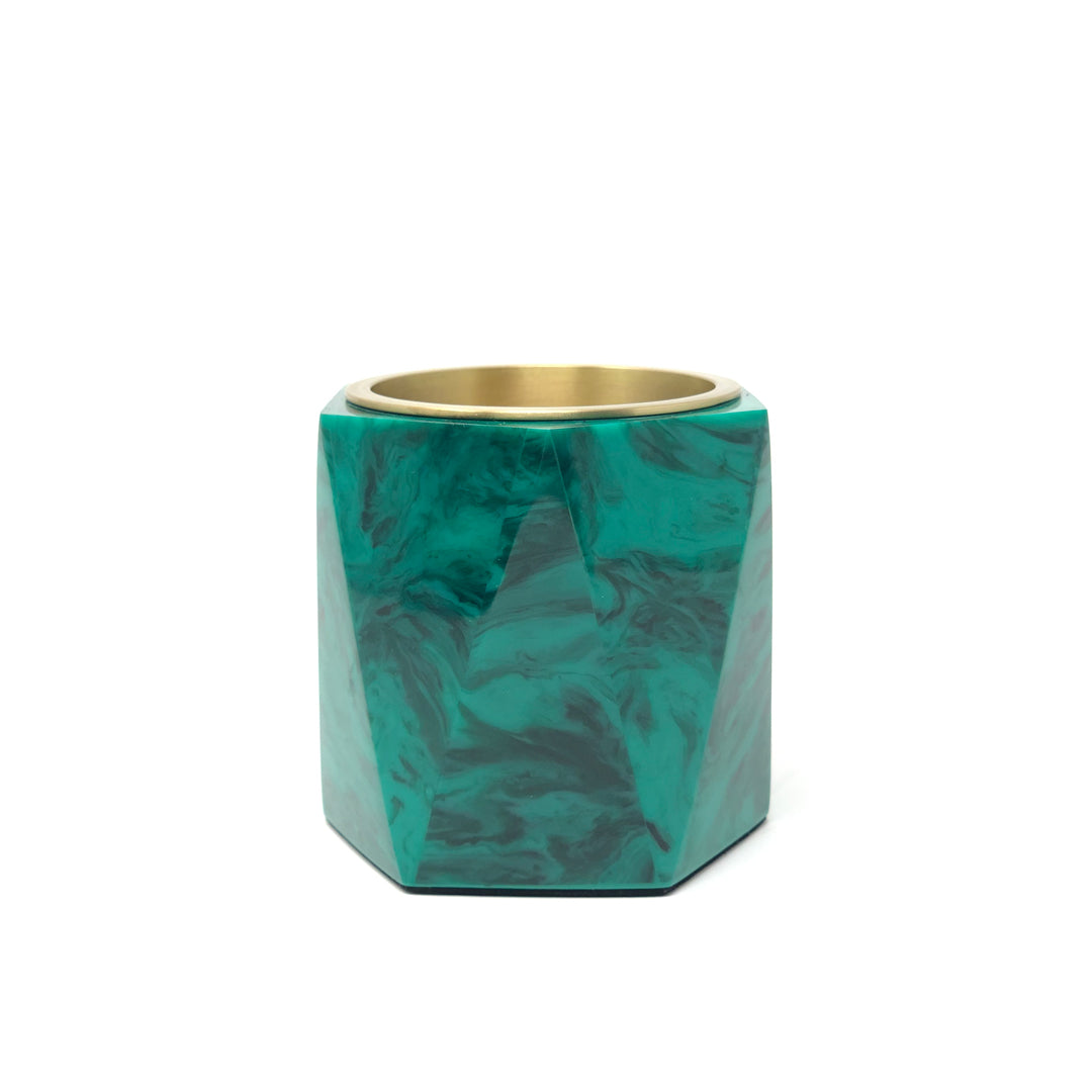 Malachite Vase and Pencil Cup