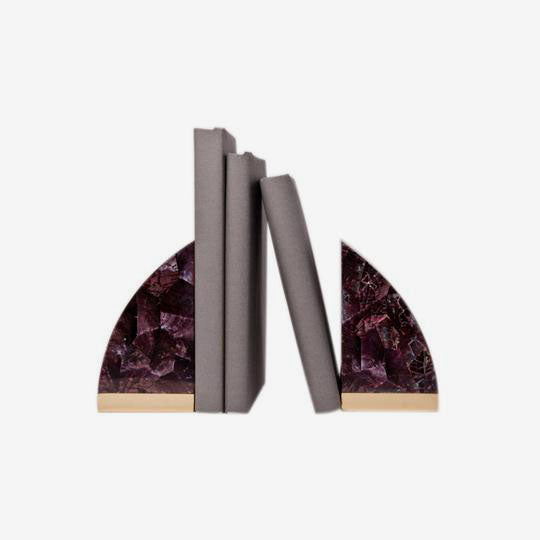 Mactan Bookends - Purple Shell