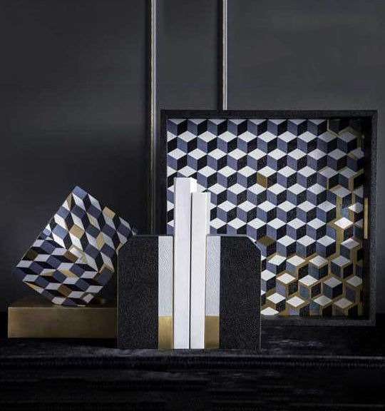 Milan Deconstructed Cube Bookends