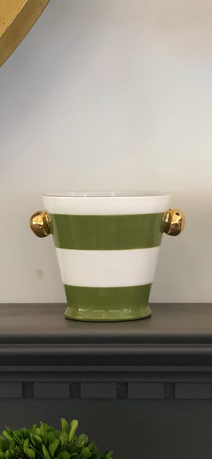 Herb Pot- Canopy Stripes