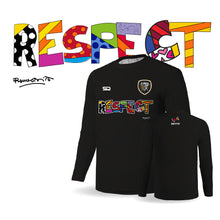 Load image into Gallery viewer, Palm Beach Stars by Britto Limited Edition - RESPECT Black Long Sleeve Tee - 100% Cotton