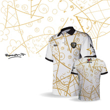 Load image into Gallery viewer, Palm Beach Stars by Britto Limited Edition - White Polo - 100% Dry Fit Polyester