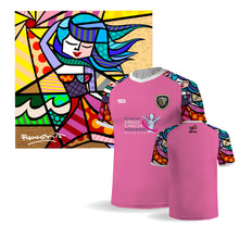 Load image into Gallery viewer, Palm Beach Stars by Britto Limited Edition - FLORIDA BREAST CANCER FOUNDATION Pink Jersey - 100% Dry Fit Polyester