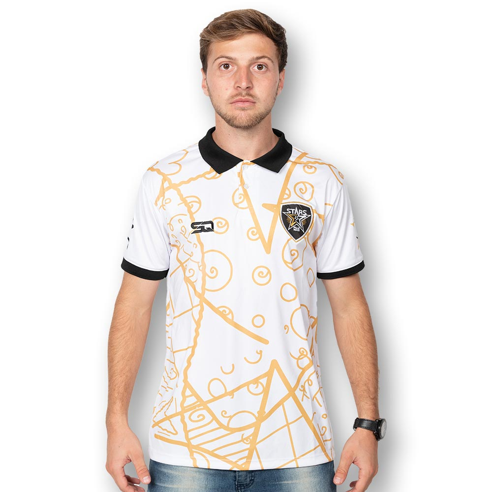 Palm Beach Stars by Britto Limited Edition - White Polo - 100% Dry Fit Polyester