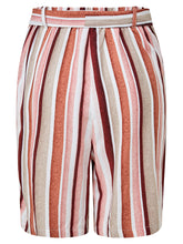 Load image into Gallery viewer, Tie Waist Shorts Pink Stripe