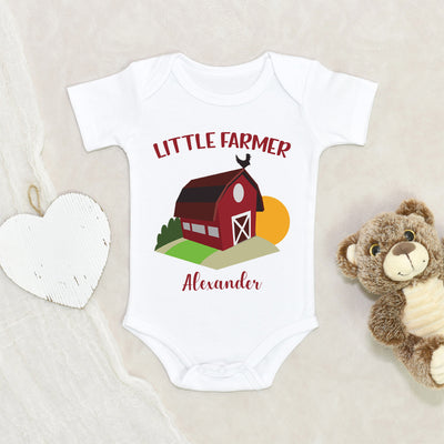 Cute Boys Onesie® - Boho Baby Onesie® - Little Farmer Personalized Onesie - Baby Shower Gift - Customized Onesie® - Custom Baby Clothes