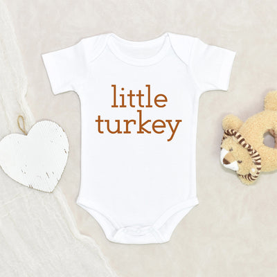 Fall Baby Clothes - Little Turkey Baby Onesie - Cute Fall Clothes - Thanksgiving Baby Onesie