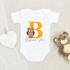 Boys Cute Baby Onesie - Personalized Name Boys Owl Baby Onesie - Personalized Owl Onesie