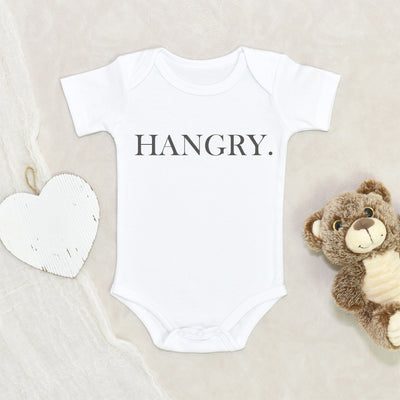 Cute Baby Clothes - Hangry Baby Onesie - Funny Baby Clothes