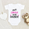 Custom Girl Name Onesie® - Personalized Baby Shower Gift - My Aunt Is My Favorite Onesie® - Personalized Girl Baby Onesie®
