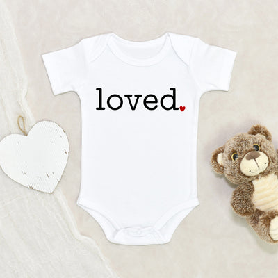 I Am Loved Baby Onesie - Loved Baby Onesie - Cute Valentines Day Baby Clothes
