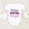 Personalized Birthday Gift - Personalized Girls Name Onesie - Little Sister Onesie - Little Sister Baby Clothes