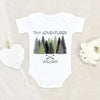 Custom Baby Shower Gift - Cute Baby Boy Clothes - Tiny Adventurer Personalized Onesie - Outdoorsy Hiking Onesie