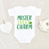 Cute Irish Boys Onesie® - St. Patrick's Day Boys Onesie® - Mister Lucky Charm Onesie®