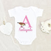 Custom Bird Baby Onesie® - Cute Custom Name Onesie® - Personalized Name Girls Bird Onesie®