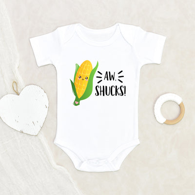 Vegetable Baby Onesie® - AW, Shucks Onesie Corn Onesie® - Cute Baby Clothes - Funny Baby Onesie®