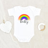 Rainbow Baby Boy Clothes - Rainbow Baby Onesie® - Blue Rainbow Baby Clothes - Cute Rainbow Baby Boy Gift