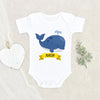 Baby Shower Gift - Whale Personalized Baby Boy Onesie - Custom Name Onesie - Cute Boho Baby Clothes - Baby Boy Gift