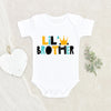 Baby Boy Brother Announcement Onesie® - Lil' Brother Onesie® - Little Brother Baby Onesie® Gift