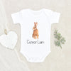 Personalized Name Baby Gift - Cute Bunny Baby Onesie® - Personalized Bunny Baby Boy Onesie® - Custom Name Baby Clothes