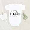 Newborn Baby Gift - Personalization Love Onesie - Auntie Is My Fav Reveal Onesie - Pregnancy Reveal Aunt Onesie - Custom Onesie
