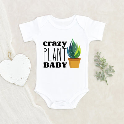 Cute Plant Baby Shower Gift - Crazy Plant Baby Onesie® - Cute Plant Based Baby Clothes