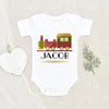 Baby Shower Gift - Boho Baby Boys Onesie® - Choo Choo Train Personalized Onesie® - Toy Train Onesie® - Cute Baby Clothes - Boho Baby Onesie® -