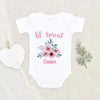 Plant Baby Clothes - Custom Girls Name Onesie - Lil Sprout Onesie - Personalized Baby Girl Onesie - Cute Floral Baby Onesie